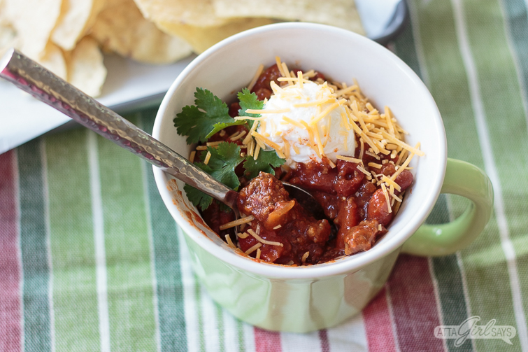 bowl of sweet and spicy chili