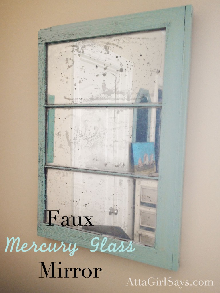 Window pane mirror with faux antique mercury glass for What kind of paint to use on kitchen cabinets for make my own wall art
