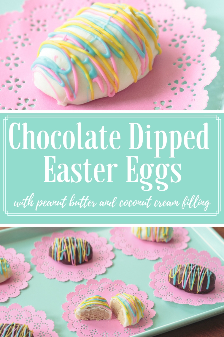 tray filled with white chocolate and chocolate peanut butter Easter eggs