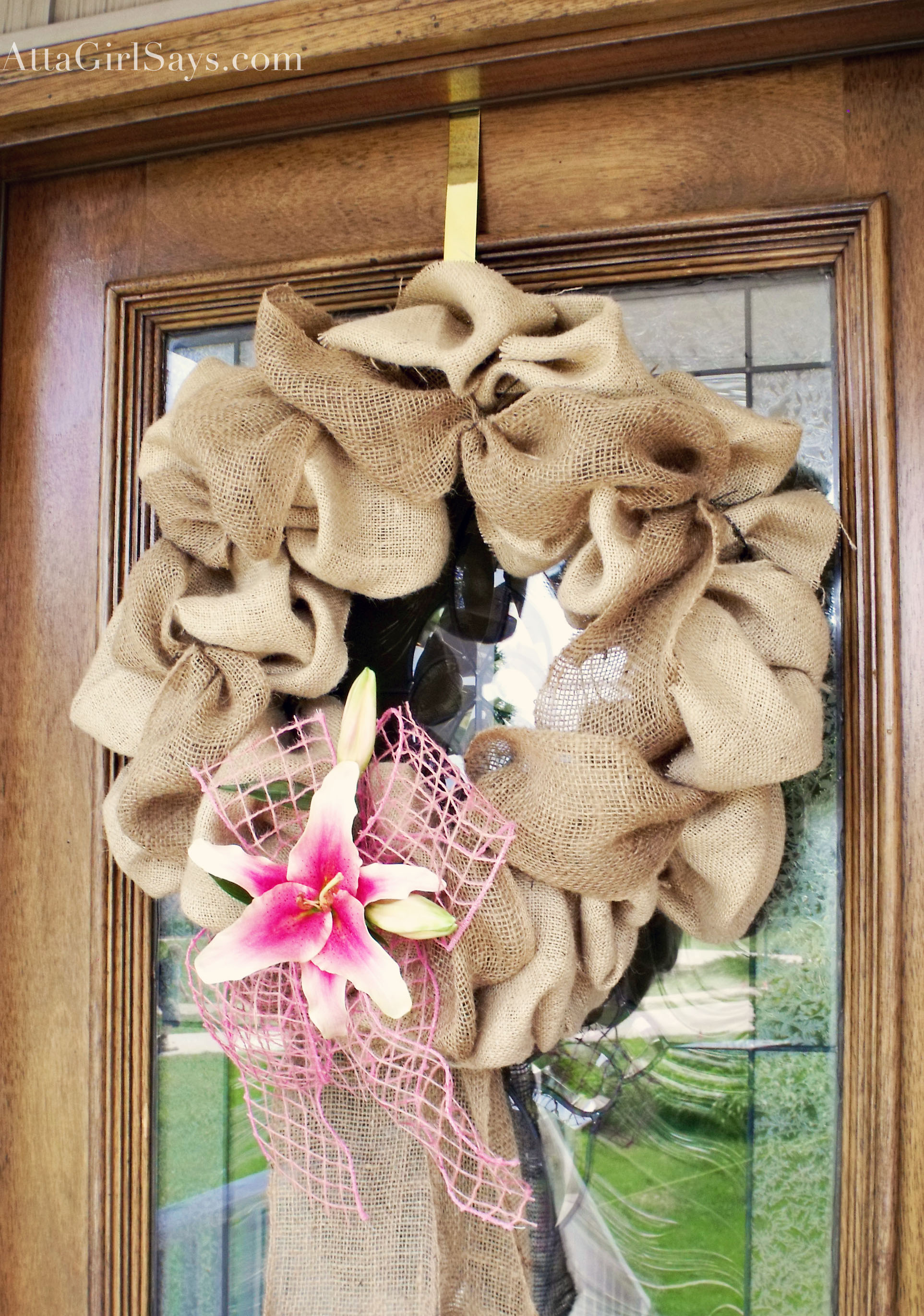 Burlap & Lily Spring Wreath