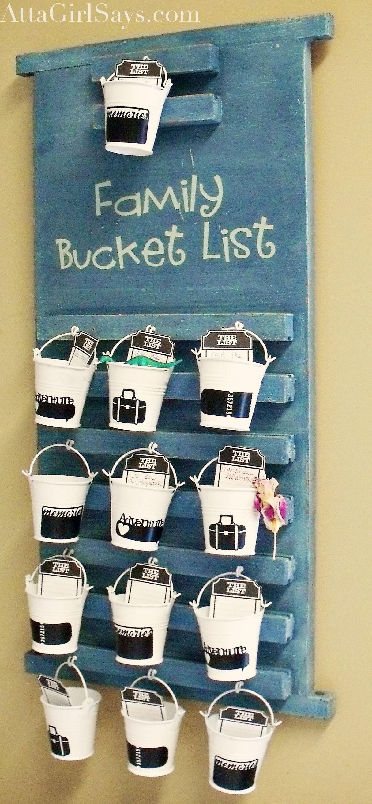 Make A 3d Family Bucket List Atta Girl Says
