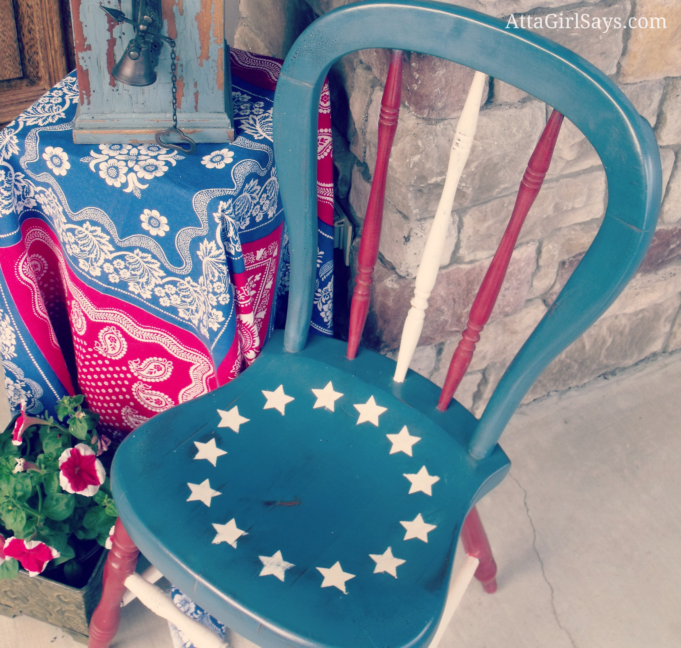 Betsy Ross Flag Chair for July 4th