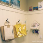 laundry room with bead board paneling
