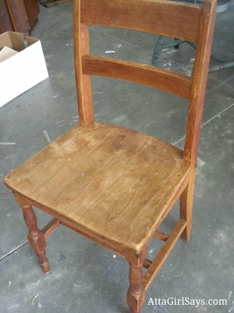 Wooden Child's School Chair by AttaGirlSays.com