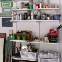 Elfa Garage Storage Shelfing from The Container Store on AttaGirlSays