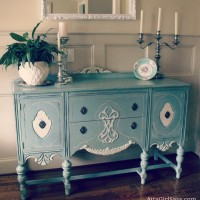 McCoy Planter on Duck Egg Green Annie Sloan Chalk Paint Buffet