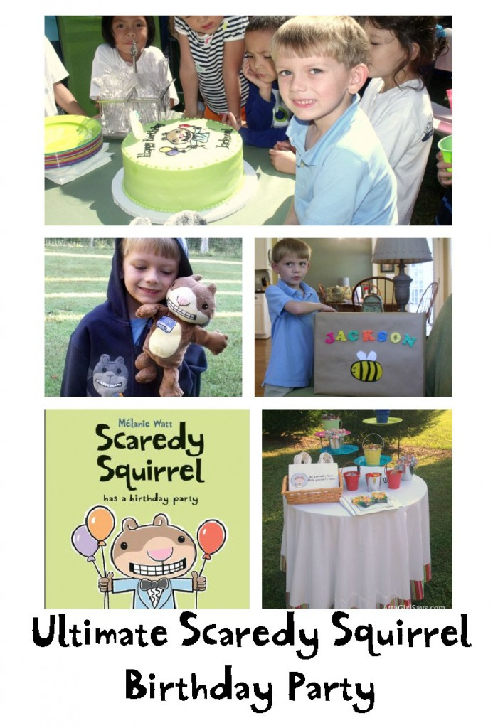 Ulimate Scaredy Squirrel birthday party AttaGirlSays.com