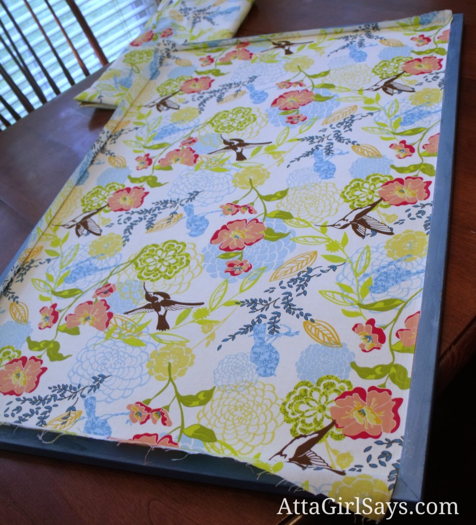 How to make a fabric covered bulletin board by attagirlsays com