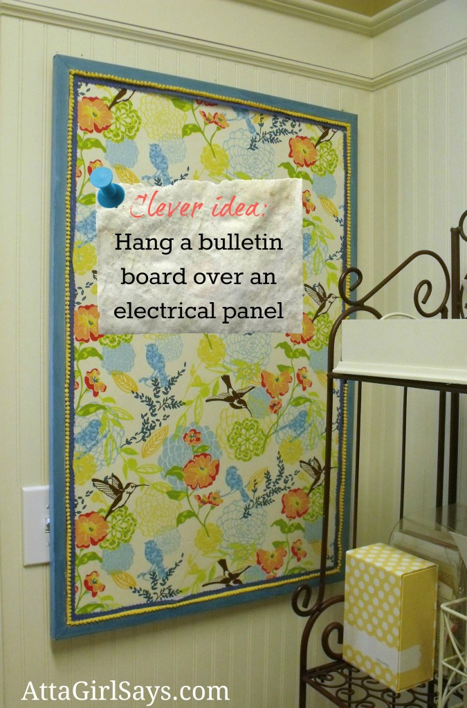 Fabric bulletin boards can be expensive, but you can easily and inexpensively make one of your own.