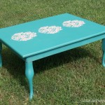 Stenciled Damask Coffee Table