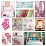 Pink and Aqua Bedroom Mood Board