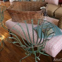 thrift shopping finds iron planters crop basket