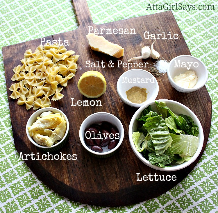 Ladies Who Lunch Artichoke & Olive Pasta Salad Healthy Ingredients