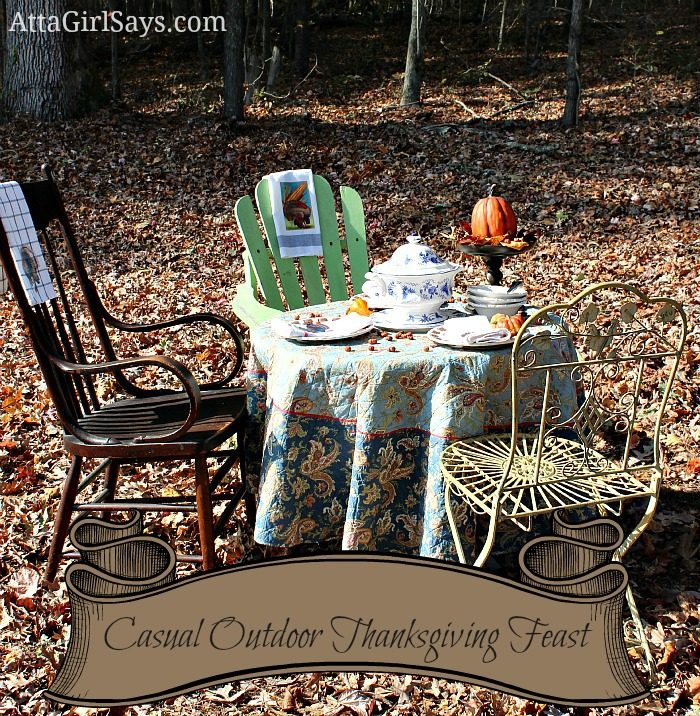 Casual Outdoor Thanksgiving Feast by AttaGirlSays.com