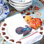 Vintage Turkey Thanksgiving Iron On Transfer Napkins