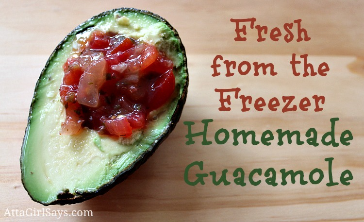 fresh from the freezer homemade guacamole how to freeze avocados