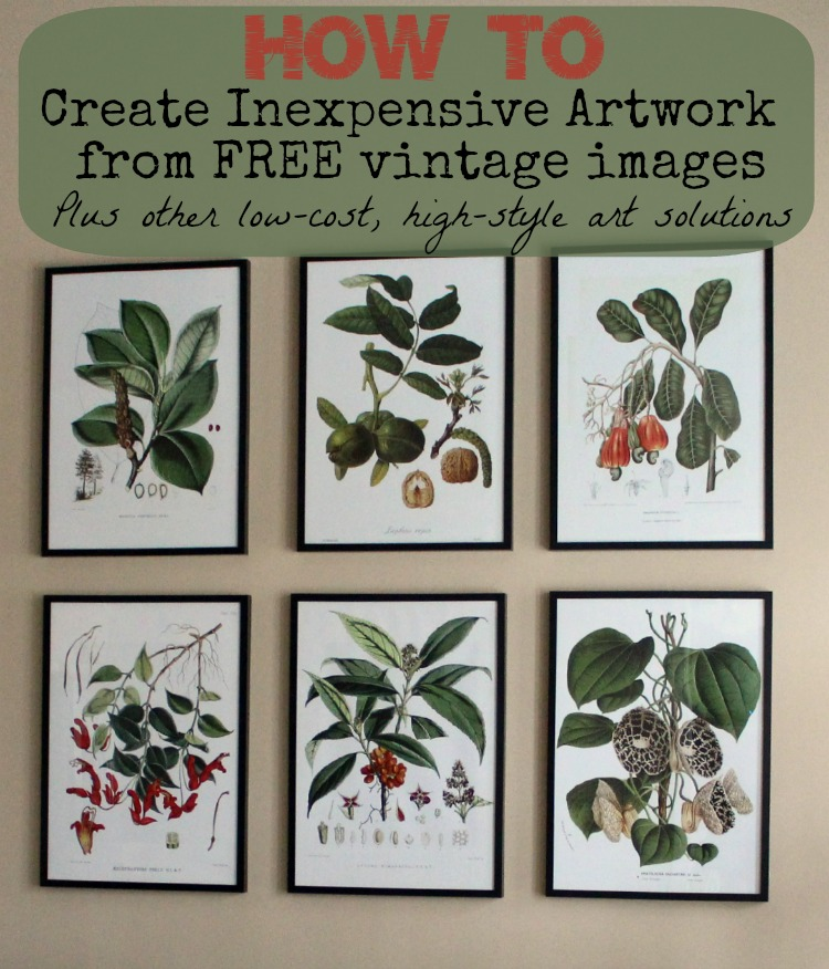 how to create inexpensive artwork with vintage images and other low-cost artwork solutions by AttaGirlSays.com