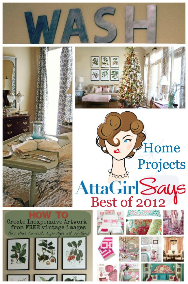 Best of 2012 Decorating Projects from AttaGirlSays.com