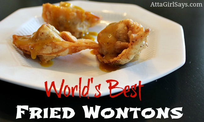 World's best fried wontons Chinese appetizer by AttaGirlSays.com