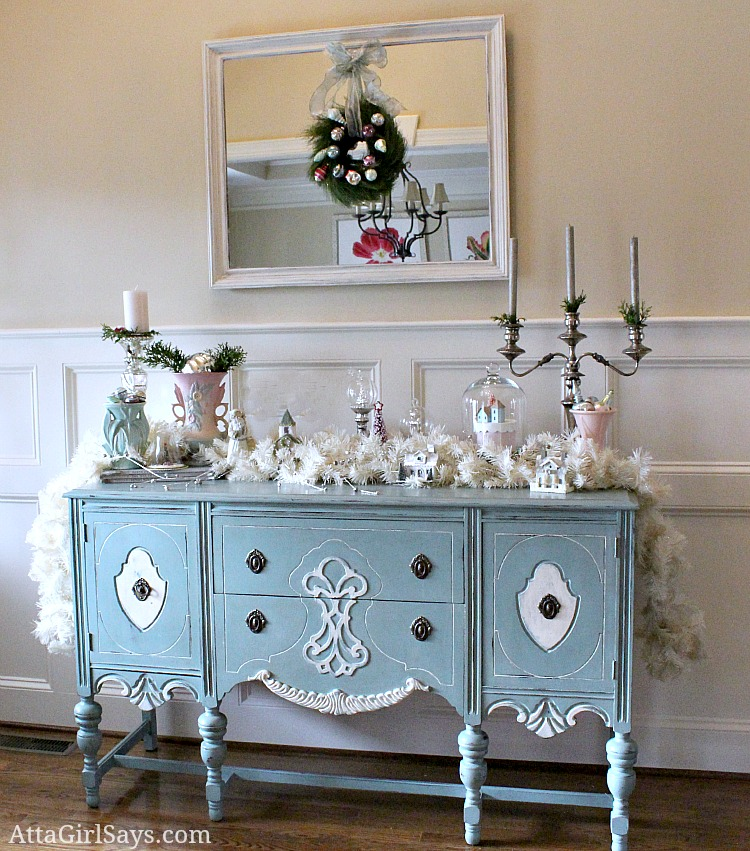 Christmas House Tour 2012 Vintage And Pastel Foyer
