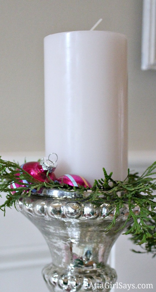 how to decorate with broken Christmas ornaments by AttaGirlSays.com