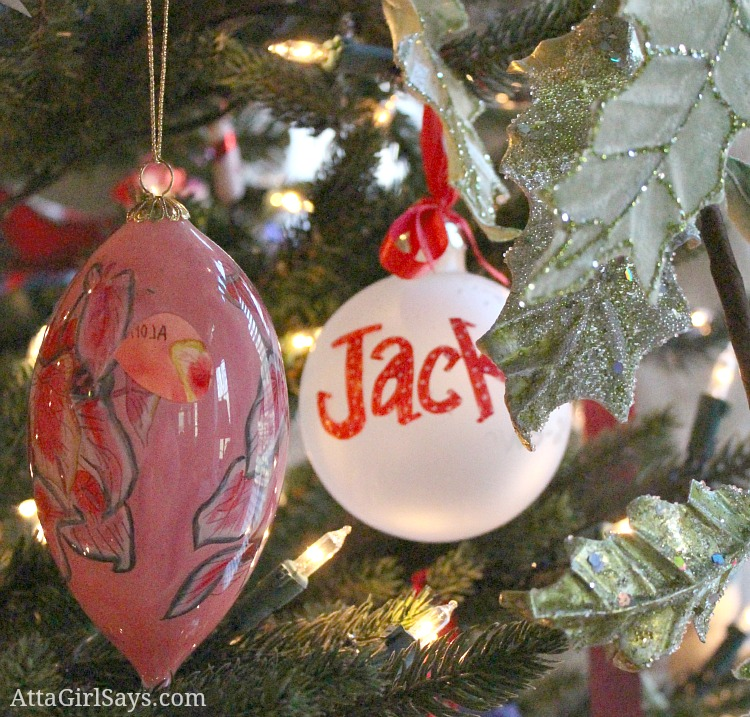 imperfect ornaments on the Christmas tree