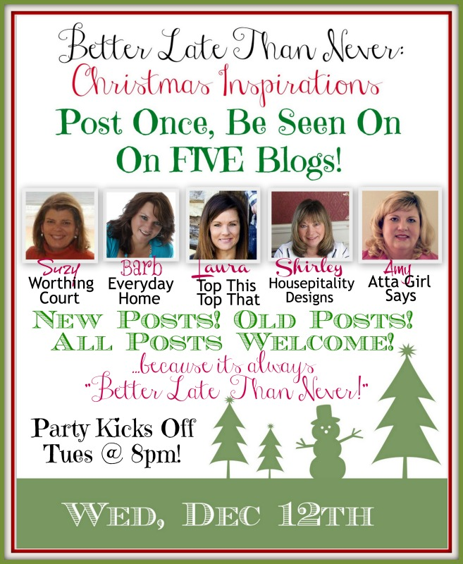 Better Late Than Never Christmas Inspirations Blog Hop Party