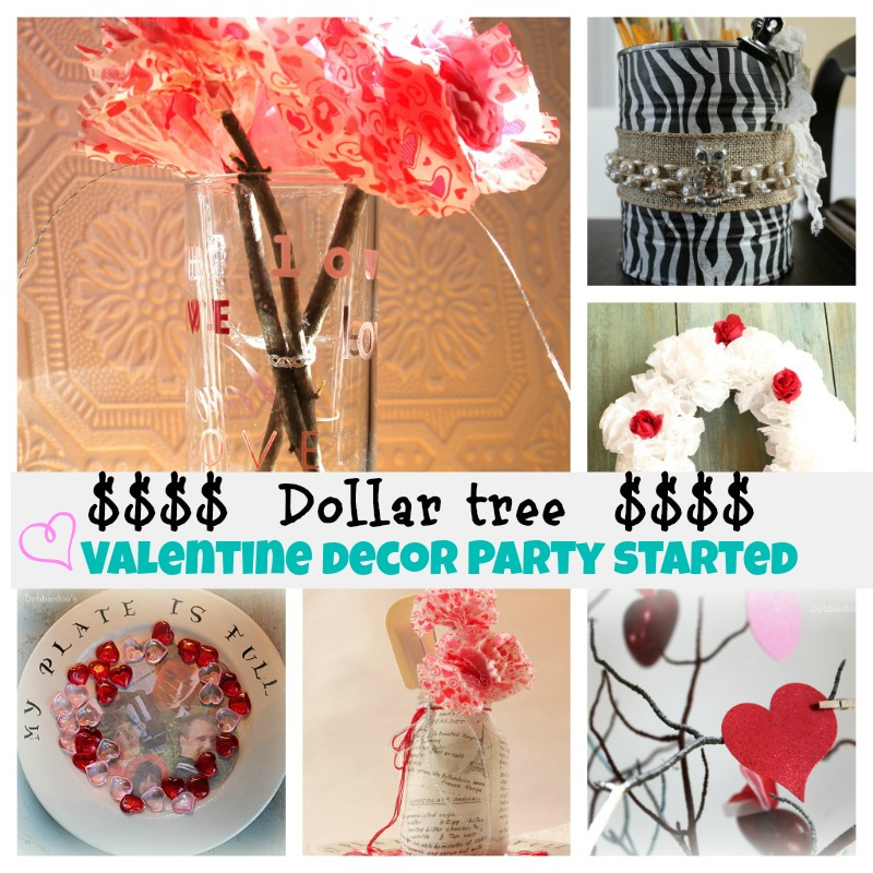 Dollar store Valentine's craft linky party