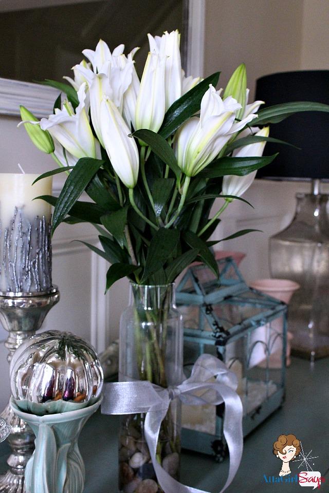 Foyer Buffet Winter Lillies Greenhouse