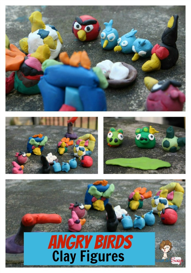 Fun Family Craft Angry Birds Clay Figures by AttaGirlSays.com
