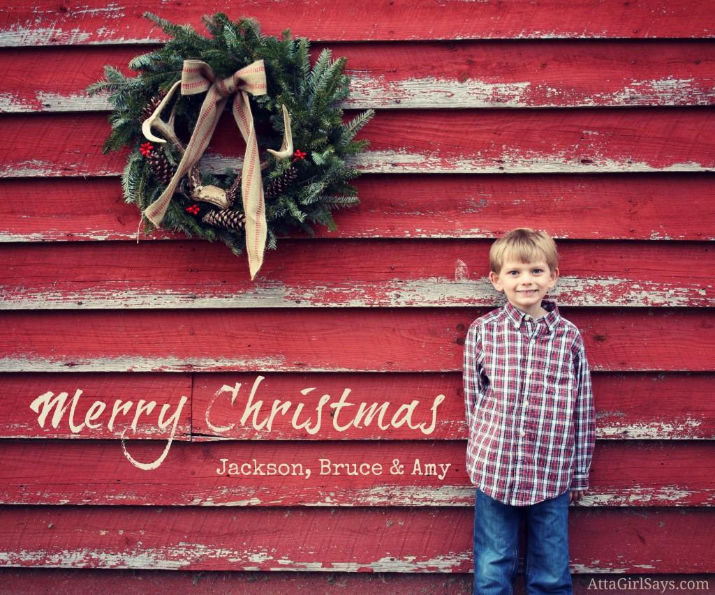 Barn Christmas Photo