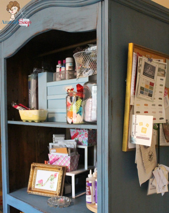 Miss Mustard Seed Milk Paint French Enamel Craft Armoire in Office