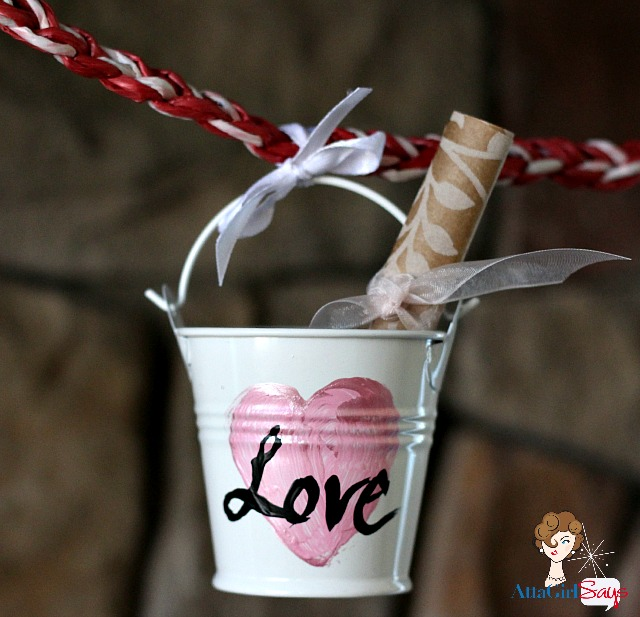 bucket of love Dollar Store craft by AttaGirlSays.com