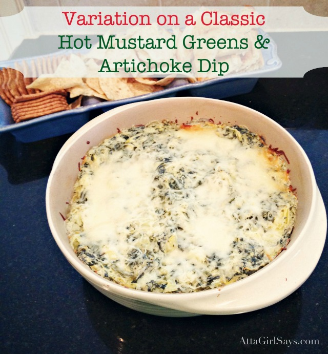 hot mustard greens and artichoke dip recipe
