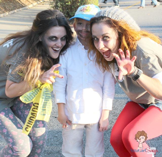 jackson and zombies Greensboro Zombie Run 2012