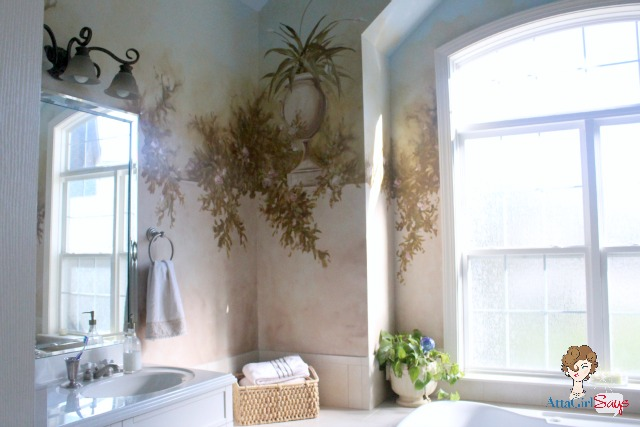 master bathroom mural