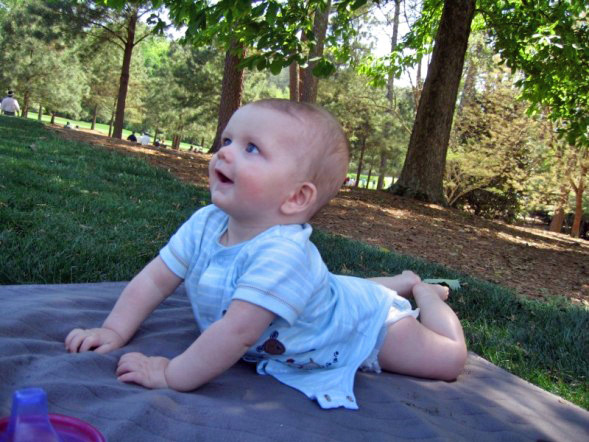 Jackson baby at Augusta National 2007 Masters Tournament