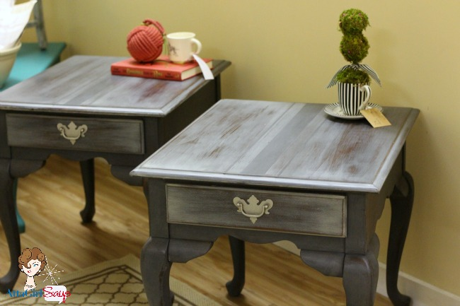 pair of French grain sack tables