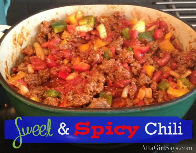 sweet and spicy sausage and beef chili recipe