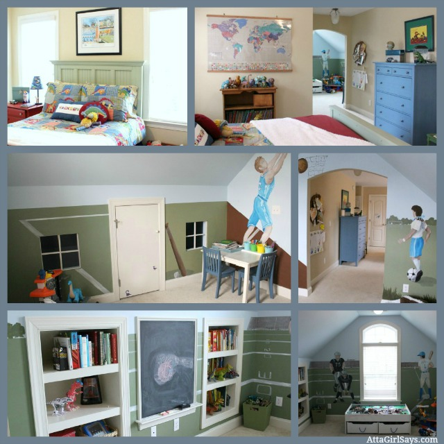 Perfect Boy's bedroom and playroom dinosaurs sports