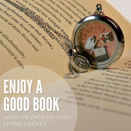 Celebrate Reading Origami Owl Book Necklace
