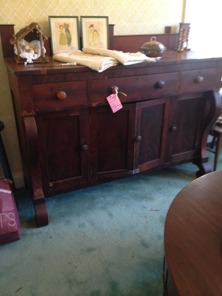 antique empire style sideboard