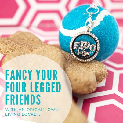 Fido Dog Charm Necklace Origami Owl Living Locket