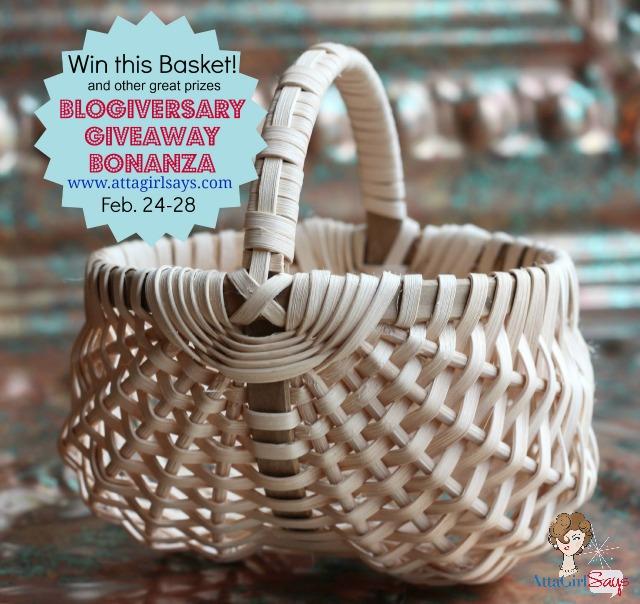 Handwoven basket giveaway