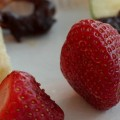 featured strawberries and chocolate fondue