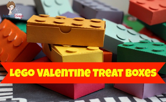 Lego Valentine treat boxes