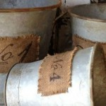 numbered buckets from Farmhouse Decor