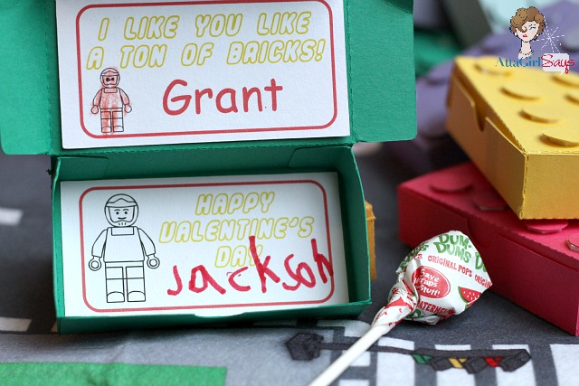 ton of bricks lego valentine's day card