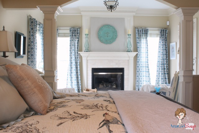 savvy southern style my favorite room atta girl says 16126 | atta girl says blue and white master bedroom sitting room
