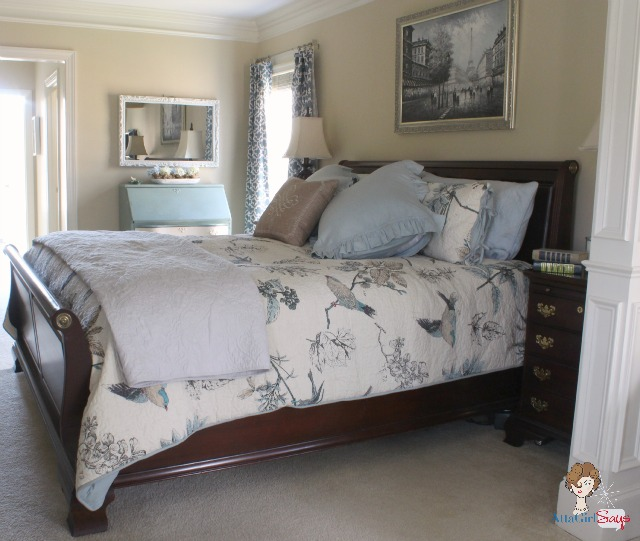 Atta Girl Says Master Bedroom Retreat in Aqua and Blue
